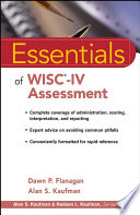Essentials of WISC IV Assessment