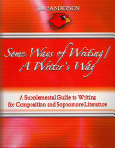 Some Ways Of Writing   A Writer s Way