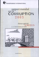 Rapport mondial sur la corruption 2003