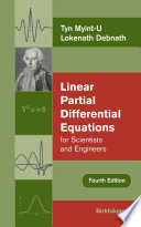 Linear Partial Differential Equations for Scientists and Engineers Book