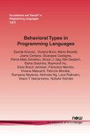 Behavioral Types in Programming Languages