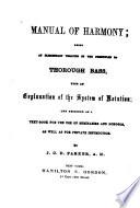 Manual of Harmony Book
