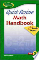 Quick Review Math Handbook Hot Words, Hot Topics