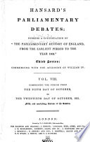 The Parliamentary Debates  Authorized Edition  Book