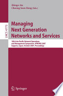 Managing Next Generation Networks and Services Book