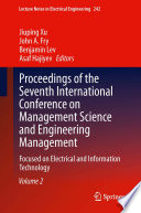 Proceedings Of The Seventh International Conference On Management Science And Engineering Management Book PDF