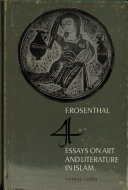 Four Essays on Art and Litterature in Islam