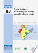 Spatial Variation In Water Supply And Demand Across River Basins Of India Book PDF