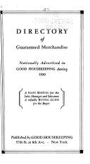 Directory of Guaranteed Merchandise  Nationally Advertised in Good Housekeeping