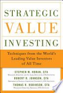 Strategic Value Investing  Practical Techniques of Leading Value Investors Book