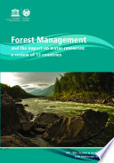 Forest management and the impact on water resources