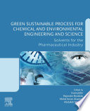 Green Sustainable Process for Chemical and Environmental Engineering and Science Book