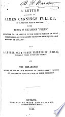 A Letter Addressed to the Editor of the London  Friend