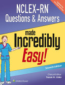 NCLEX-RN Questions & Answers Made Incredibly Easy! [Pdf/ePub] eBook
