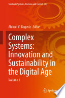 Complex Systems  Innovation and Sustainability in the Digital Age Book