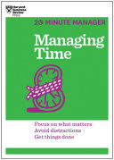 Managing Time  HBR 20 Minute Manager Series