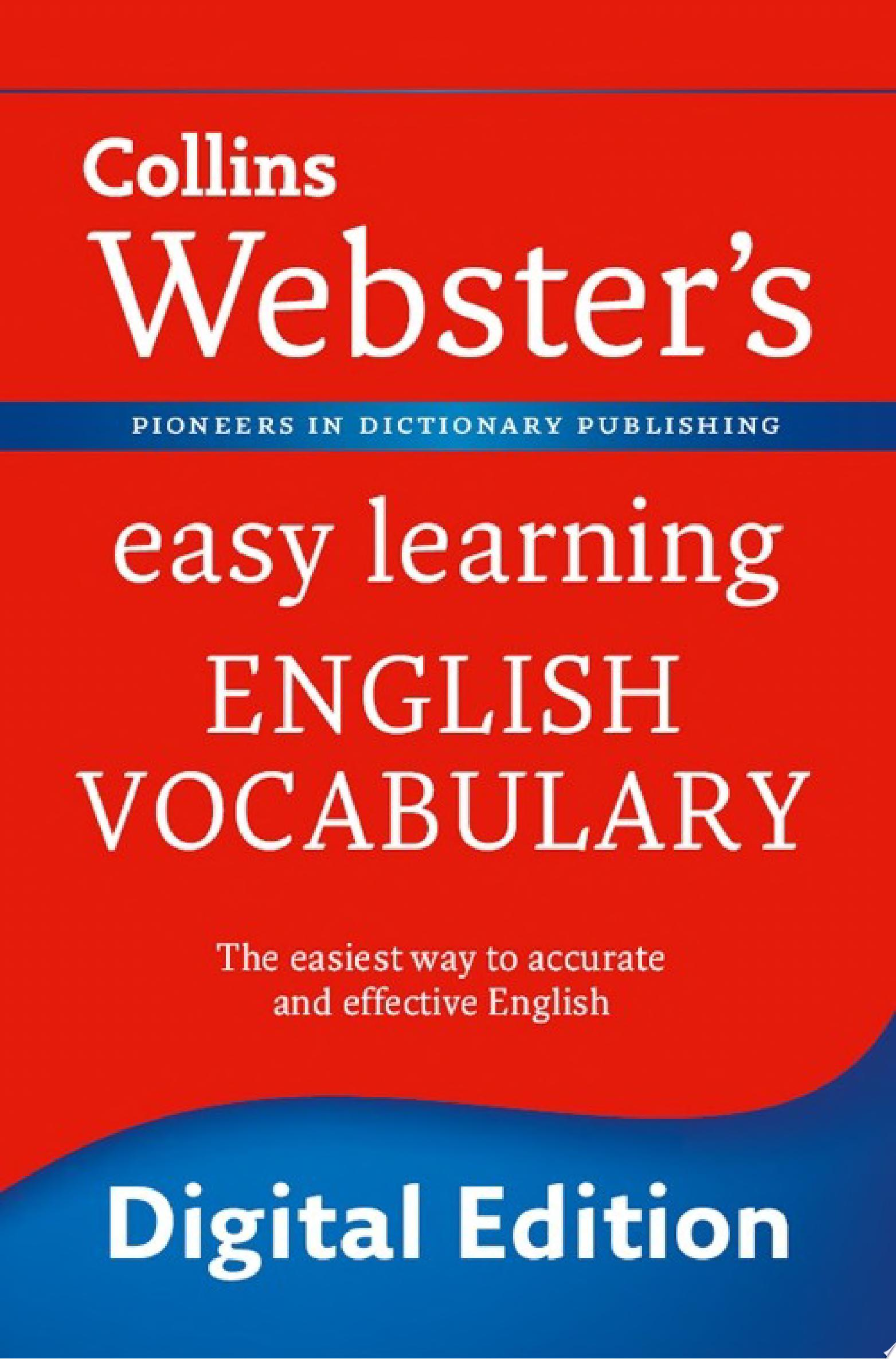Webster   s Easy Learning English Vocabulary  Collins Webster   s Easy Learning