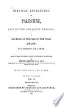 Biblical Researches in Palestine Book PDF