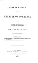 Annual Report of the Chamber of Commerce of the State of New York for the year 1858