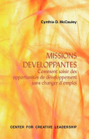 Developmental Assignments: Creating Learning Experiences without Changing Jobs (French)