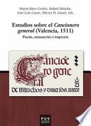 Estudios sobre el cancionero general (Valencia, 1511)