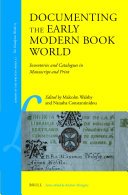 Documenting the Early Modern Book World