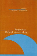 Perspectives in Cultural Anthropology