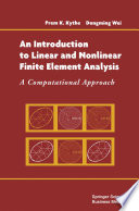 An Introduction to Linear and Nonlinear Finite Element Analysis Book