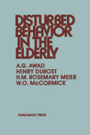 Disturbed Behavior in the Elderly Pdf/ePub eBook