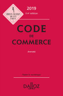Pdf Code de commerce 2019, annoté Telecharger