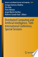 Distributed Computing and Artificial Intelligence, 16th International Conference, Special Sessions