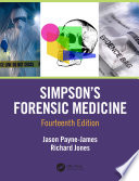 Simpson S Forensic Medicine 14th Edition