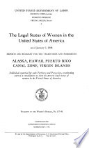 The Legal Status of Women in the United States of America as of January 1  1948