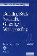 Science and Technology of Building Seals  Sealants  Glazing and Waterproofing