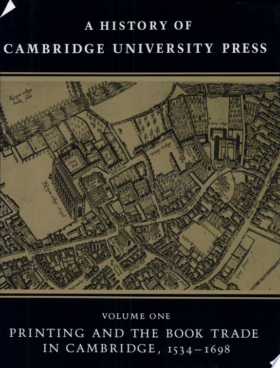 A History of Cambridge University P