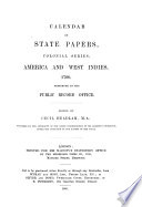 Calendar of State Papers, Colonial Series: America & West Indies 1700