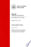 Title 40 Protection of Environment Part 63 (§§ 63.1200 to 63.1439) (Revised as of July 1, 2013)