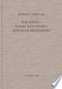 The Kings Isaiah and Kings Jeremiah Recensions