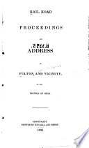Rail Road Proceedings And Address Of Fulton And Vicinity To The People Of Ohio