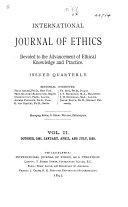 International Journal of Ethics
