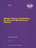 Human Factors Guidelines For Aircraft Maintenance Manual Book PDF