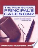 The High School Principal S Calendar