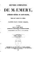 Oeuvres complètes de M. Émery...