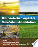Bio Geotechnologies for Mine Site Rehabilitation