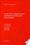 Fluid Film Lubrication   Osborne Reynolds Centenary