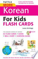 Tuttle More Korean For Kids Flash Cards Kit