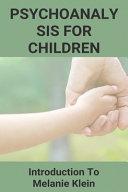 Psychoanalysis For Children