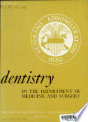 Dentistry In The Department Of Medicine And Surgery