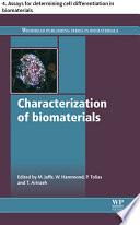 Characterization of biomaterials Book