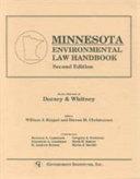 Minnesota Environmental Law Handbook Book
